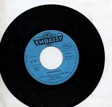 MARIO e CINZIA LEONE raro disco 45 giri PINOCCHIO stampa ITALIANA
