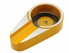 Cohiba Aluminium Alloy Pocket Size Metal Yellow Cigar Tobacco Ashtray Holder