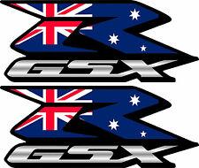 2 Custom Australian Flag GSXR Decals Stickers 600 750 1000 Hayabusa Australia
