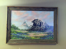 Cecil R Young Jr. Stagecoach Original Oil Painting Art MUST READ DESCRIPTION