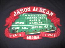 2013 Jason Aldean Fenway Park July 12 & 13 Green Monster (Med) T-Shirt Red Sox