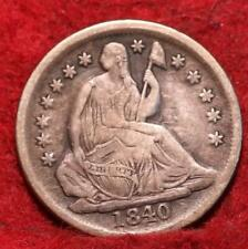1840-O New Orleans Mint Silver Seated Liberty Half Dime