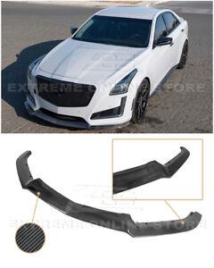 For 14-19 Cadillac CTS | V-Style CARBON FIBER Front Bumper Lip Splitter Spoiler