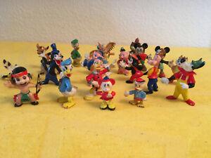 Disneyfiguren Konvolut - 23 Figuren - Micky Maus, Pluto, Goofy, Donald, Dagobert