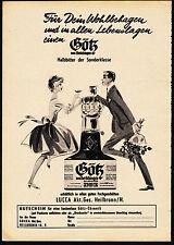 3w2030/ Alte Reklame von 1960 - Götz von Berlichingen - Halbbitter