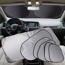 6 PCS Car Sunshade Sunscreen Curtain Silver Reflective Windshield UV Foldable