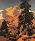 Mountain Trees Valley by Maxfield Parrish