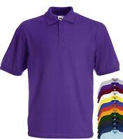 Fruit of the Loom 65/35 Polycotton Mens Polo Sports Workwear Shirt No Logo