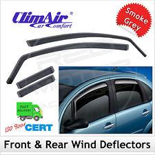 CLIMAIR Car Wind Deflectors PEUGEOT 307 5DR 2001...2006 2007 2008 SET (4) NEW