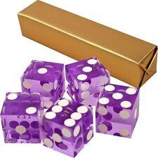 19mm Grade A Serialized Precision Casino Craps Dice - Set of 5 (Purple) Pro Dice