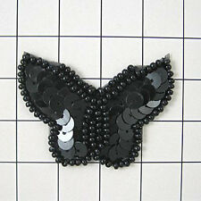 SEQUIN BEADED BUTTERFLY APPLIQUE 0412-T1