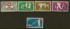 SWITZERLAND:1951 National Fete & Mothers' Fund set   SG 527-31  fine used