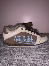 Von dutch shoes vintage y2k brown/blue sneaker tennis shoe size 6m 7.5w