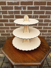 """STUNNING 3 TIER CUPCAKE STAND"" - 322mm x 320mm x 3mm"