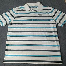 Nike Golf Polo Shirt Mens Size XL White Striped Short Sleeve Collared X Large