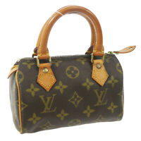 LOUIS VUITTON MINI SPEEDY HAND BAG PURSE MONOGRAM M41534 TH1926 Ak31850c