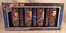 Star Trek Set of 4 TOS Collector 10 oz Glasses 2012 Trekkie Set of 4 NIB