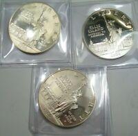 3 Silver 1986-s Ellis Island US Commem. Dollars. Proof. #20