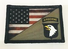 Full Color 101st Screaming Eagles Airborne USA Flag Morale Patch Tactical Army