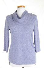 EUC Chicos  Size 0 Lavender Summer Cowl Neck Sweater 3/4 Sleeve Lightweight