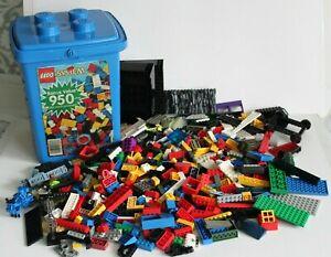 Vtg Lot~ 700+ Pcs.~ LEGO System Building Set #1776 Plus Extras w/ Storage Bucket