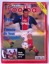 France Football du 2/1/1996; Weah, l'Afrique en or/ Les numéro 1 de 1995