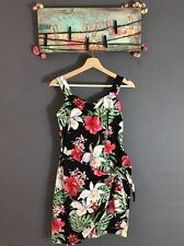 Vintage Evergreen Island Floral Midi Dress Made In Hawaii Size S