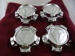 Ultra / Toyota Wheels Chrome Custom Wheel Center Caps # 89-9586T/890C01 (4 CAPS)