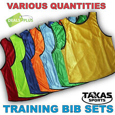 TRAINING BIBS VESTS Football Soccer Rugby Basketball Sports Cricket Netball