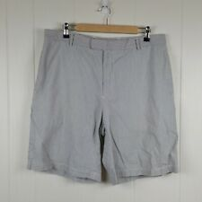 Greg Norman Men's Size 36 Blue White Striped Casual Shorts