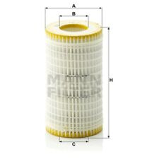 Mann HU718/5x Oil Filter Element Metal Free 115mm Height 64mm Outer Diameter