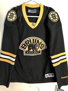 Reebok Women's Premier NHL Jersey Boston Bruins Team Black Alt sz L