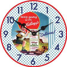 Kelloggs Vintage Design 30cm Wall Clock Cornflakes Boy Skateboard Retro