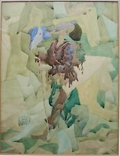 VINTAGE MOSCOW RUSSIAN AVANT-GARDE ABSTRACT EXPRESSIONIST PAINTING IGOR SNEGUR