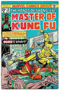 MASTER OF KUNG FU#28 FN/VF 1975  SHANG-CHI MARVEL BRONZE AGE COMICS