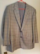 Solemare Maus & Hoffman Gray Glen Plaid/Check Silk & Wool Blazer, Size 42R
