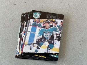 1997-98 Las Vegas Thunder Trading card Set (14 Cards) KKLZ