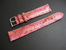 18 mm Elini Pink Genuine Italian Leather Snake Skin Watch Band strap EZ Pins