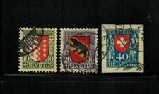 Switzerland #B18-20 Complete Set 1921 Used