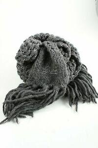 GUESS Écharpe à franges gris clair-noir torsades style décontracté Dames Écharpe