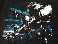 Free Iwatobi Swim Club! Black anime t-shirt large from Akibento! 100% cotton.
