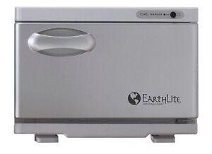 NEW EarthLite Spa Salon Mini UV Hot Towel Cabinet Towel Sanitizer Warmer White