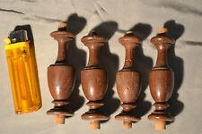 Lot de 5 tourillons, petits balustres en chêne tourné 8cm (A détourner)