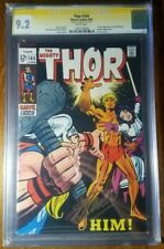 Thor #165 CGC 9.2 NM- Signed STAN LEE in GOLD 1st full APP Him Avengers WP!