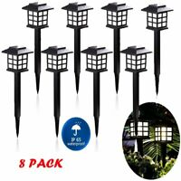 1~8Pack Outdoor Garden Solar Power Pathway Lights Landscape Lawn Patio Yard Lamp