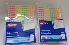 (Lot of 2) Avery Neon Color Coding Dots Self-Adhesive Labels 1/4'' Dia. Bb34/22