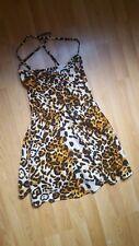 Topshop Leopard Print Skater Mini Corset Dress 8