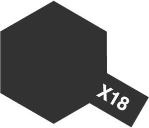 Tamiya Acrylic Mini X-18 Semi Gloss Black 81518