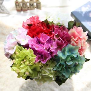 Small Wedding Artificial Hydrangea Silk Flower Home Party Floral Bouquet Decor