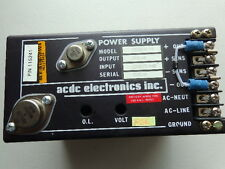 ACDC Electronics Power Supply OEM28N1.6-1-E P/N 115241  I/P 220V O/P 28V 1.6A